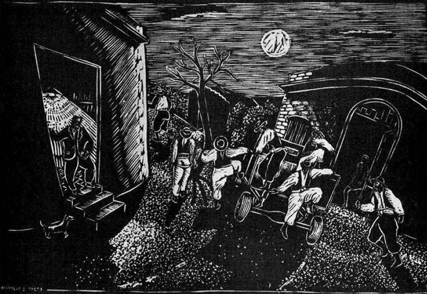 Obra ampliada: Sombras sobre la tierra - Manuel Domínguez Nieto