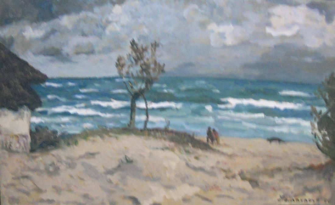 Obra ampliada: Playa y arena - Carmelo de Arzadun