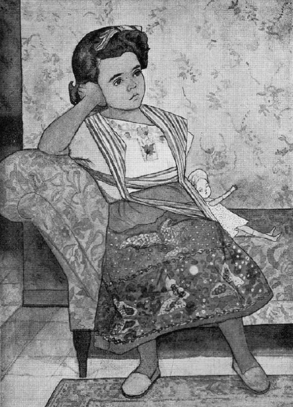 Obra ampliada: Retrato - Amalia Polleri de Viana
