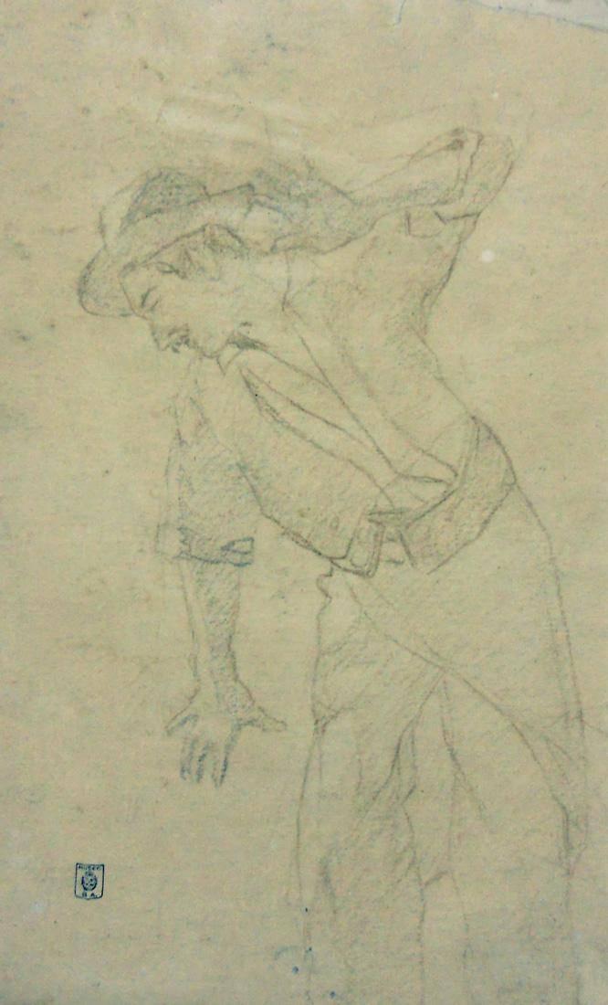 Obra ampliada: Calco - tipo de gaucho - Juan Manuel Blanes