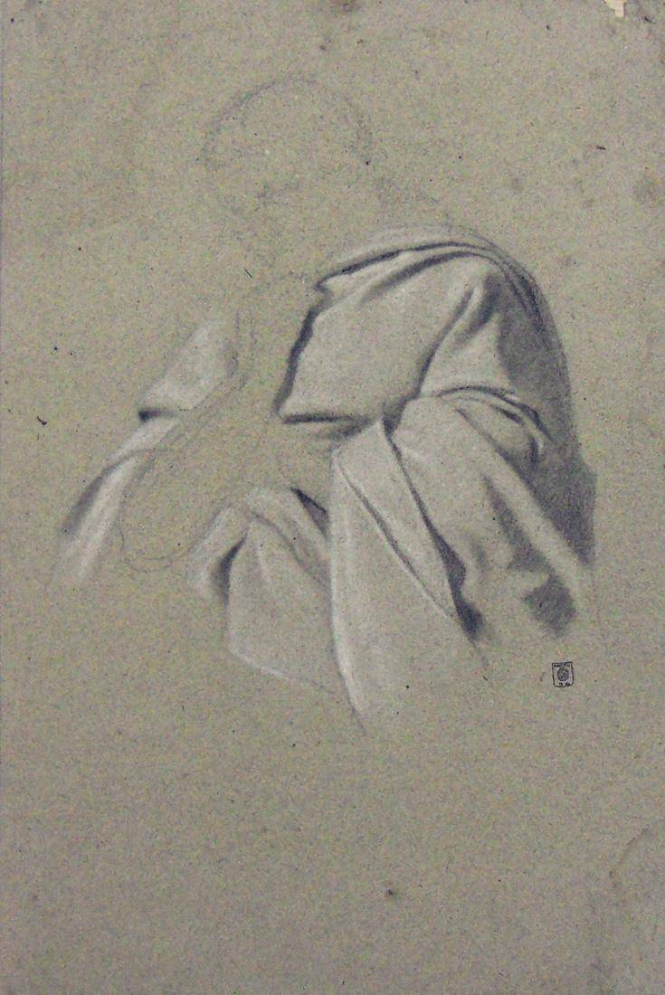 Obra ampliada: Apunte - estudio de ropaje - Juan Manuel Blanes