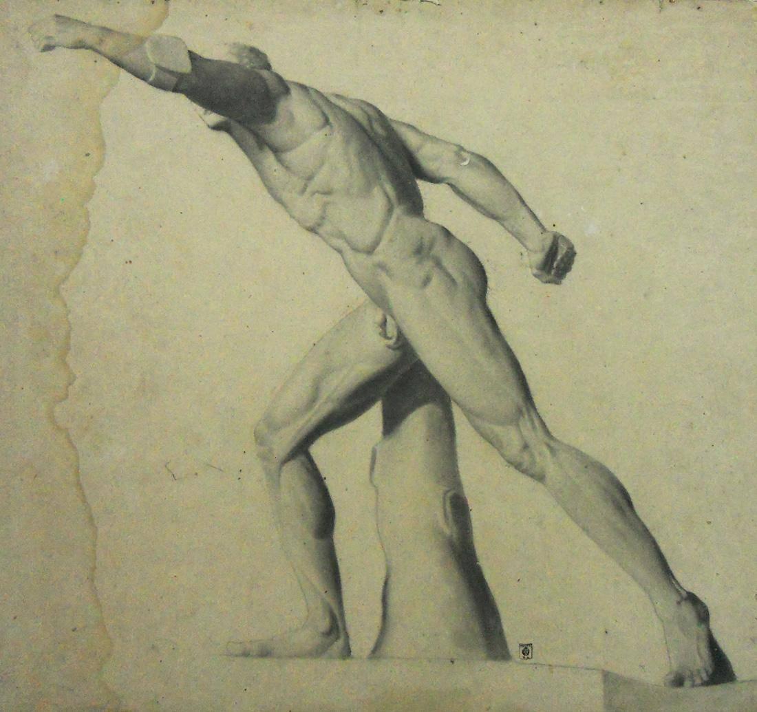 Obra ampliada: Estudio - del yeso - Juan Manuel Blanes