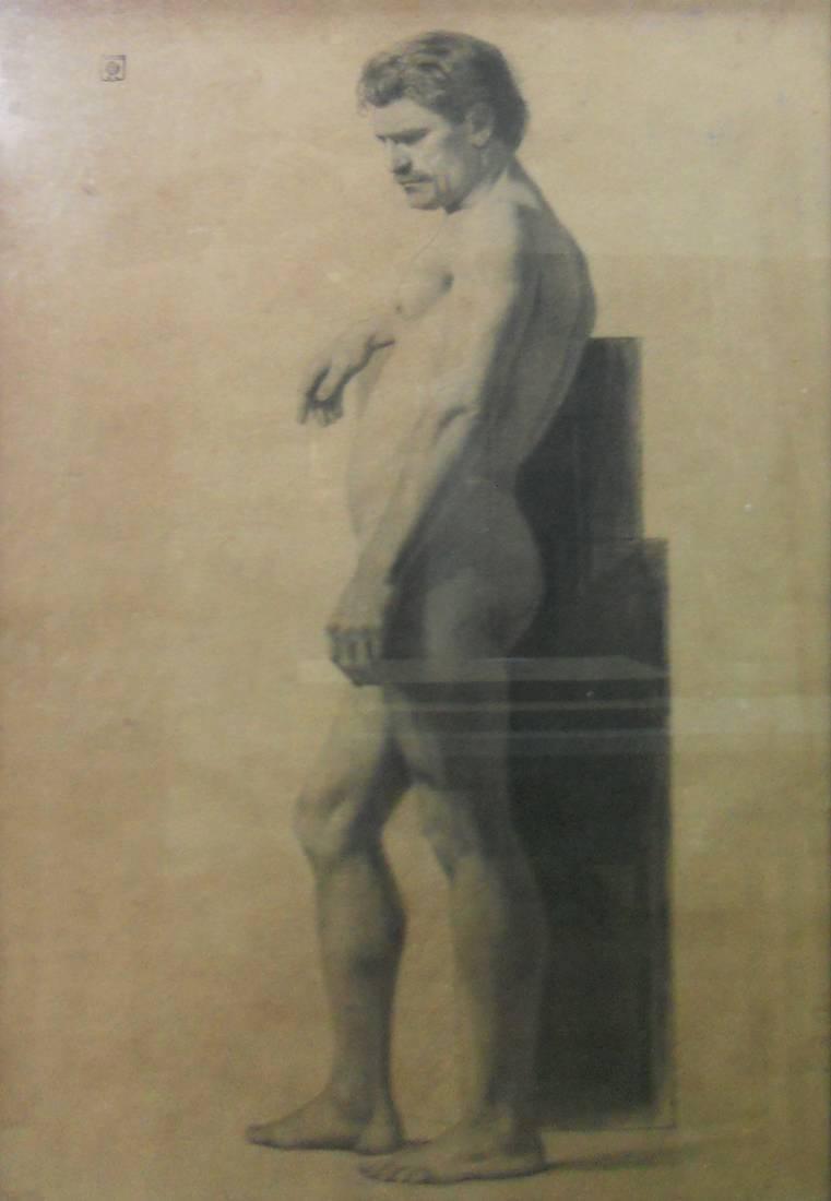 Obra ampliada: Academia desnudo - Juan Luis Blanes