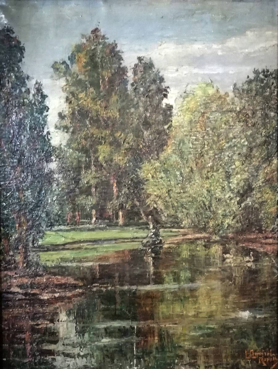 Obra ampliada: Lago del Prado - Luis Queirolo Repetto