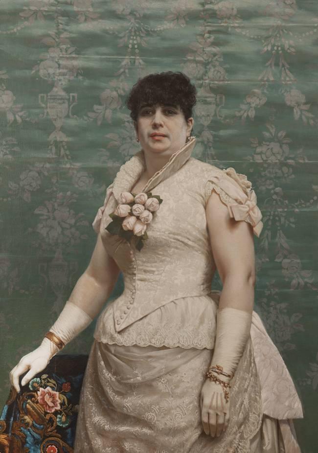 Obra ampliada: Retrato de Doña Carlota Ferreira de Regunaga - Juan Manuel Blanes