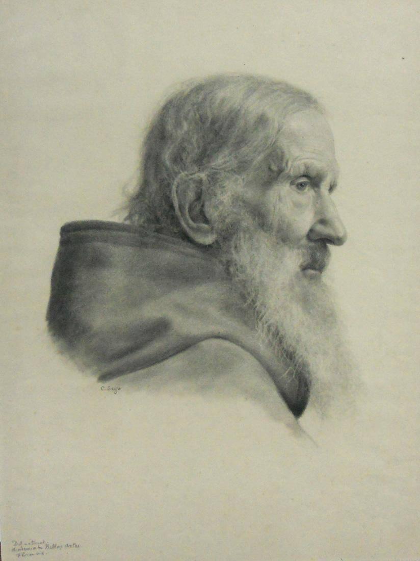 Obra ampliada: Cabeza de anciano - Carlos Seijo