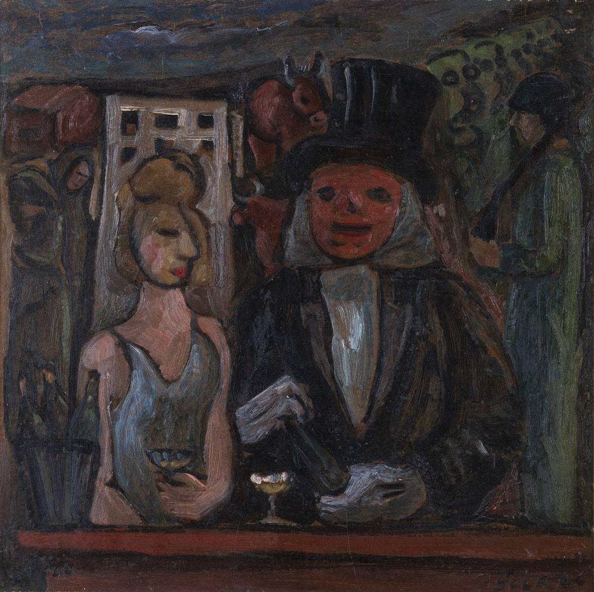 Obra ampliada: La cena - Luis A. Solari