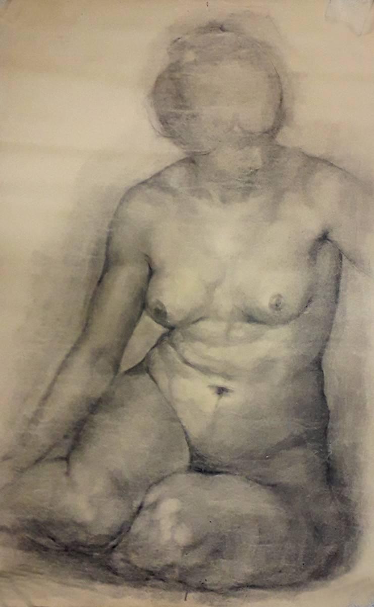 Obra ampliada: Academia - desnudo - Federico Lanau