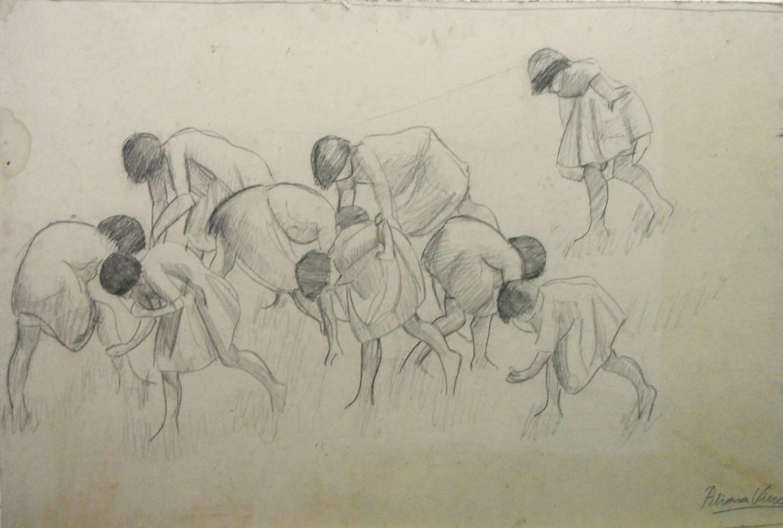 Obra ampliada: Jugando a la mancha - Petrona Viera