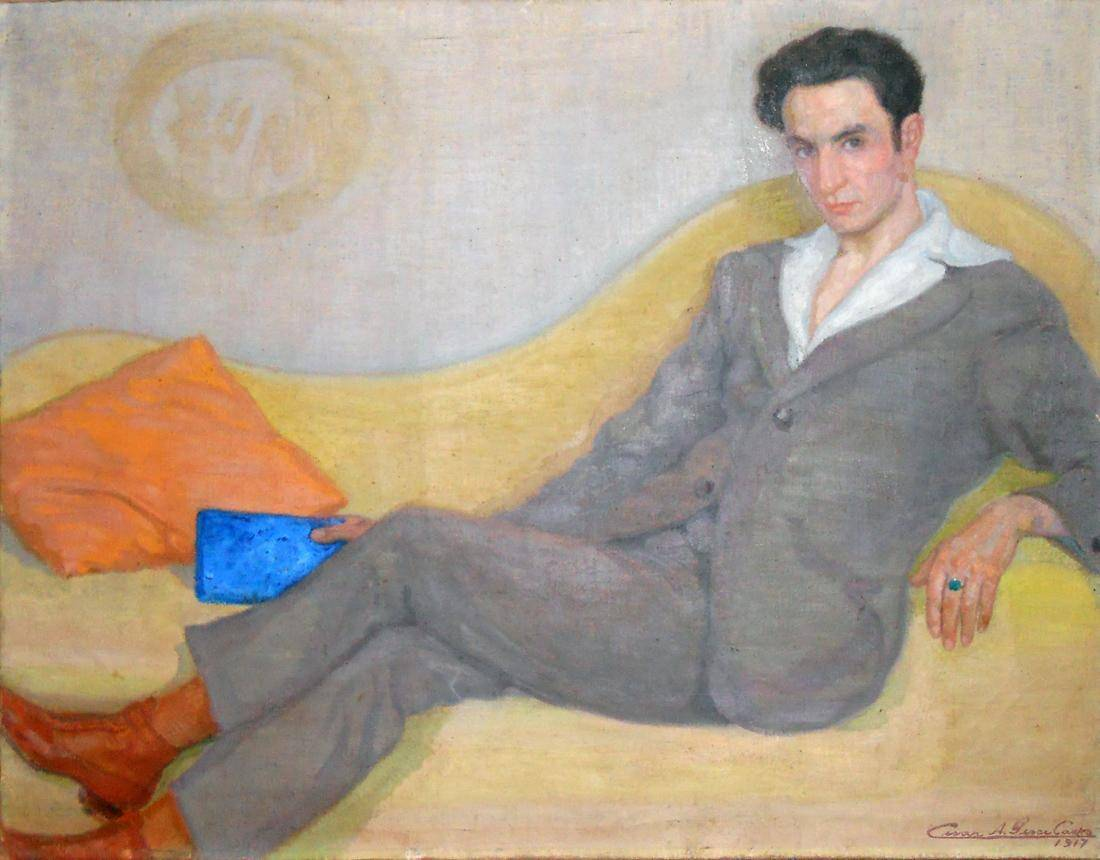 Obra ampliada: Retrato (Sr. A. Percivale) - César Pesce Castro