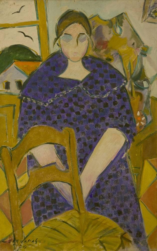 Obra ampliada: Pilar (retrato de su esposa) - Rafael Barradas