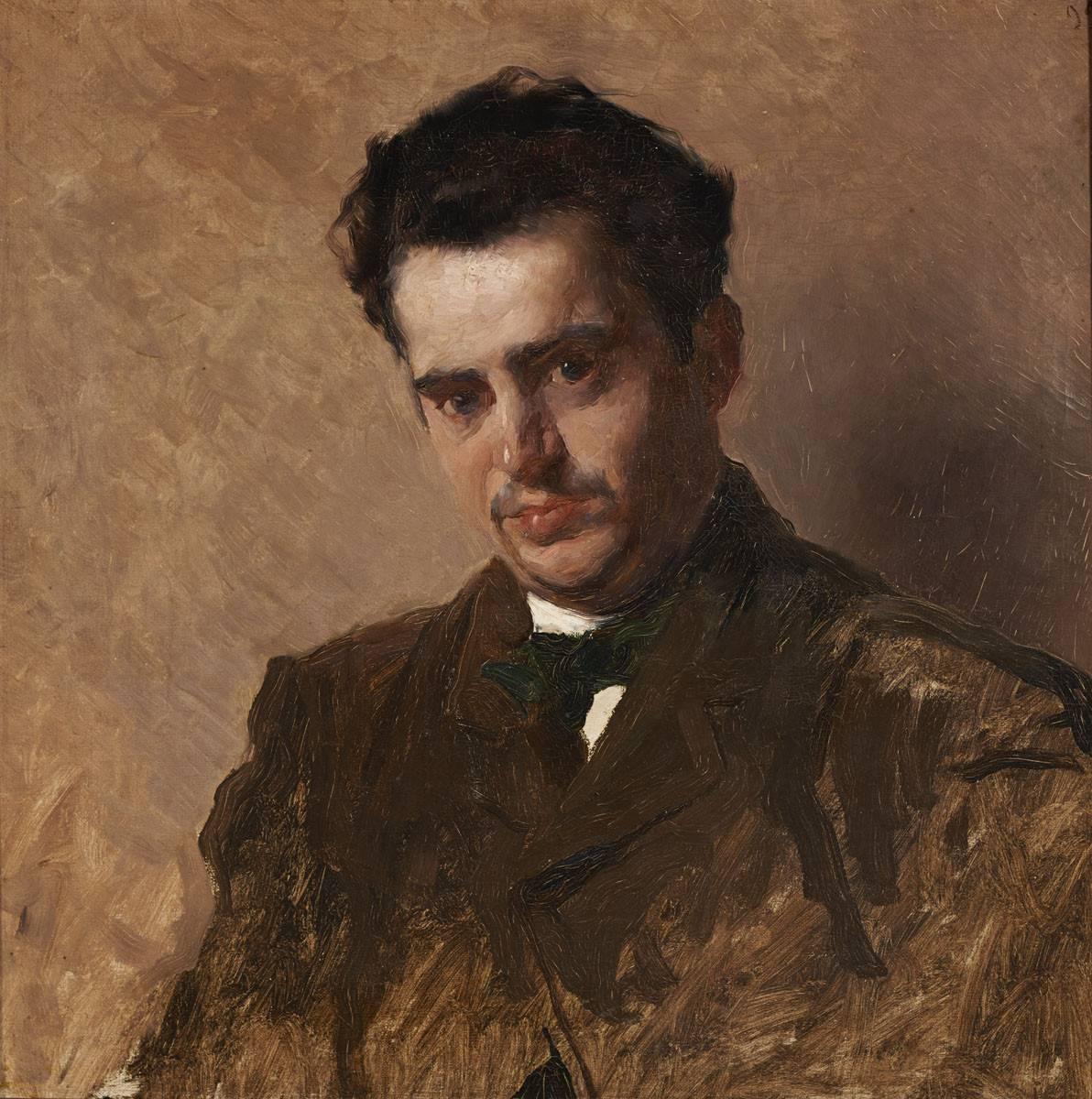 Obra ampliada: Retrato del pintor Fernando Cornu - Carlos Federico Sáez