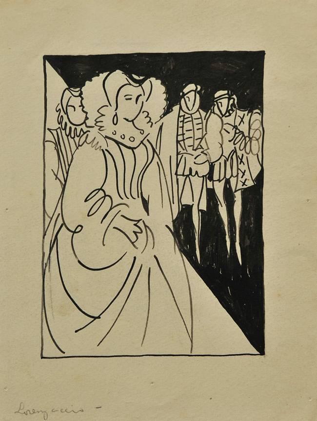 Obra ampliada: Ilustración (Lorenzaccio) - Rafael Barradas