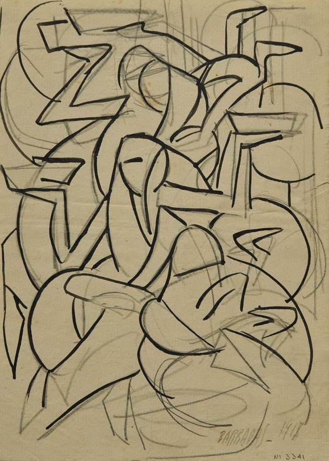 Obra ampliada: composición - Rafael Barradas