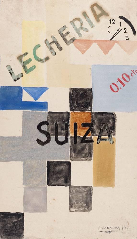 Obra ampliada: Estudio para afiche - Rafael Barradas