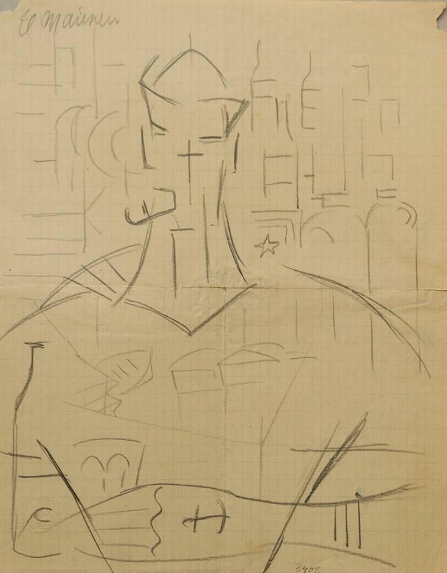 Obra ampliada: El marinero - Rafael Barradas