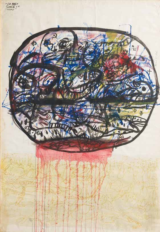 Obra ampliada: La bola sobre la ciudad - Rómulo Macció