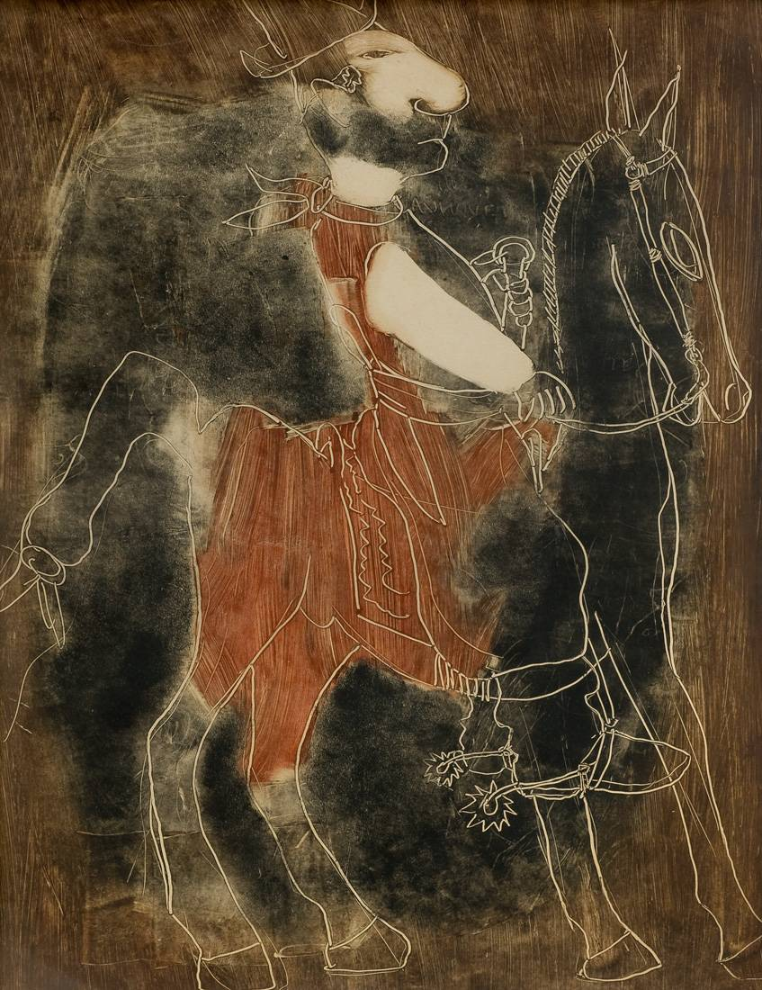 Obra ampliada: Paisano a caballo - Carlos Casiano González