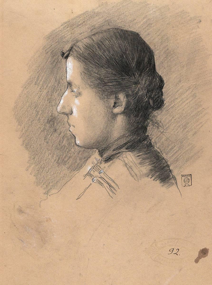 Obra ampliada: Retrato de Sarah Silvia Sáez de Ellauri - Carlos Federico Sáez