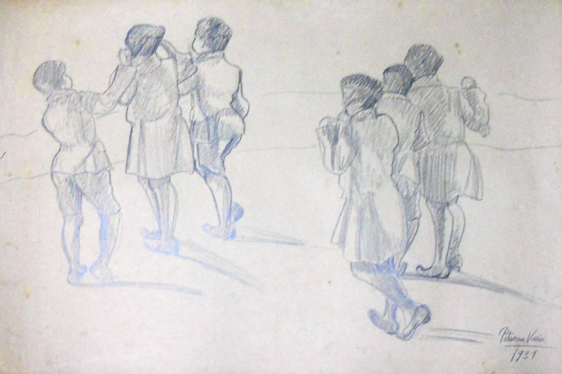 Obra ampliada: Niños. Recreo - Petrona Viera
