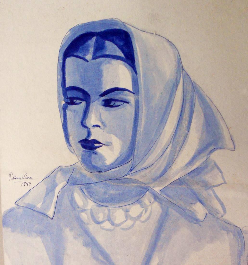Obra ampliada: Retrato - Petrona Viera