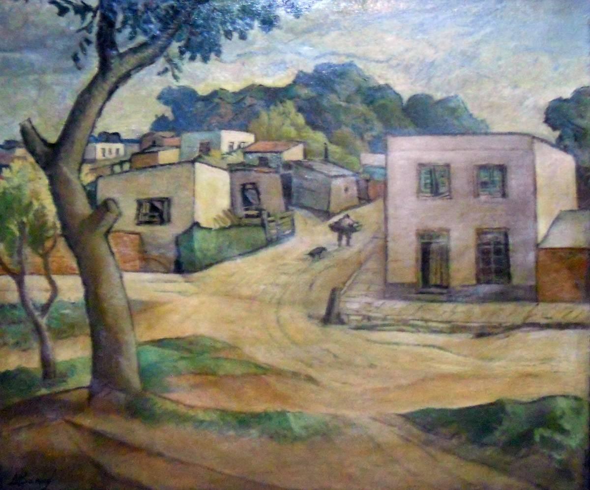Obra ampliada: Paisaje de pueblo - Miguel Benzo