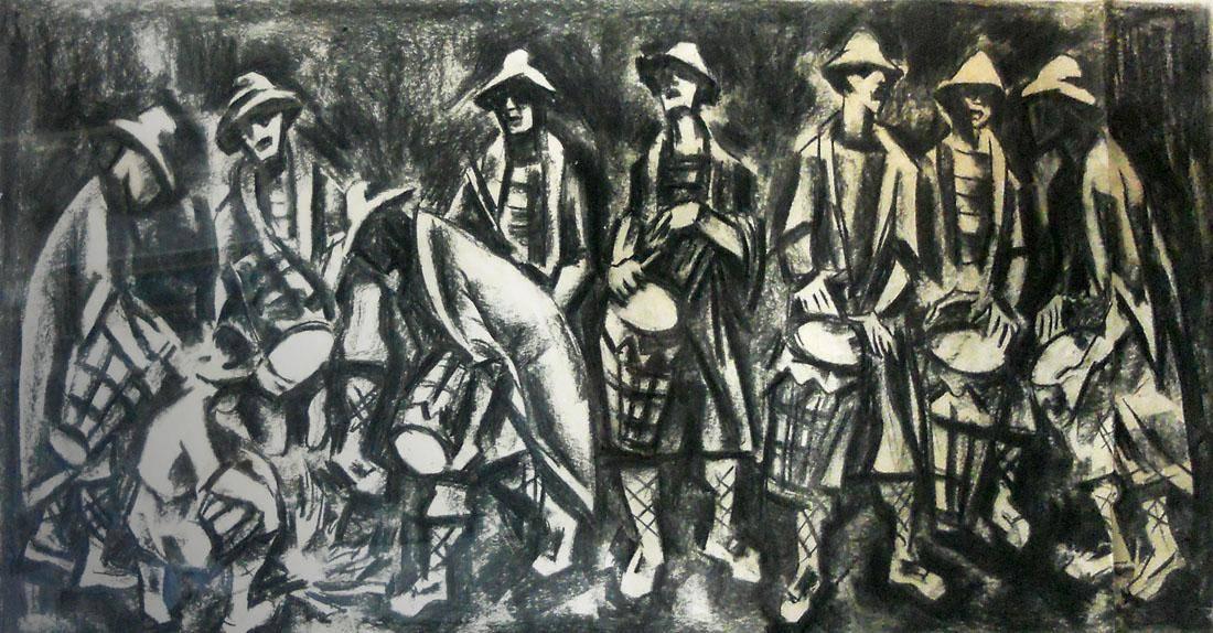 Obra ampliada: Aquelarre de tambores - Dante Ferrer Saravia