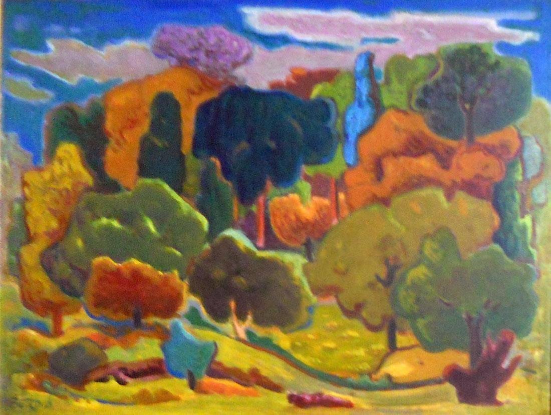 Obra ampliada: Un claro en el bosque - Norberto Berdía