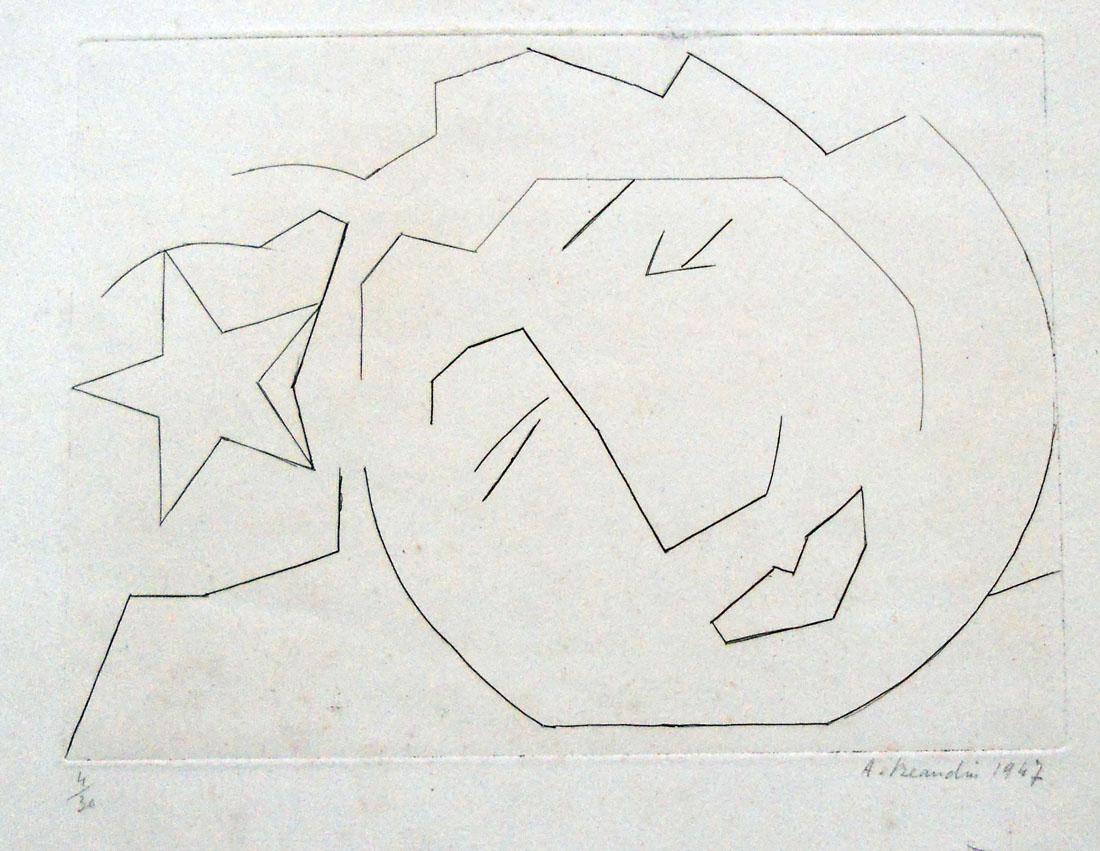 Obra ampliada: Cara y estrella - André Beaudin