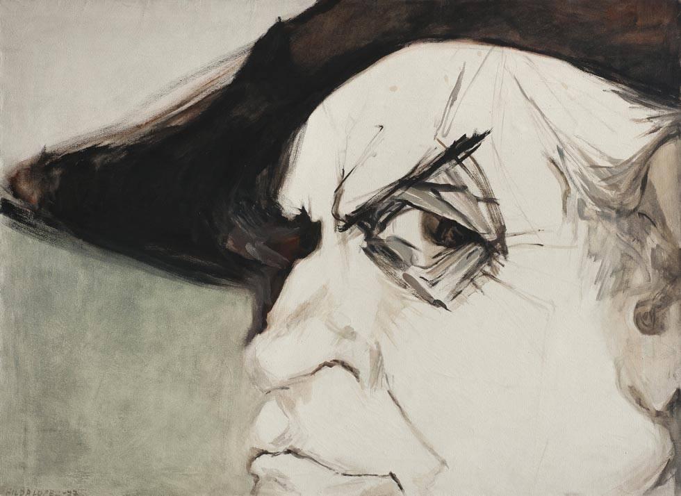 Obra ampliada: Retrato de Espínola Gómez - Hilda López