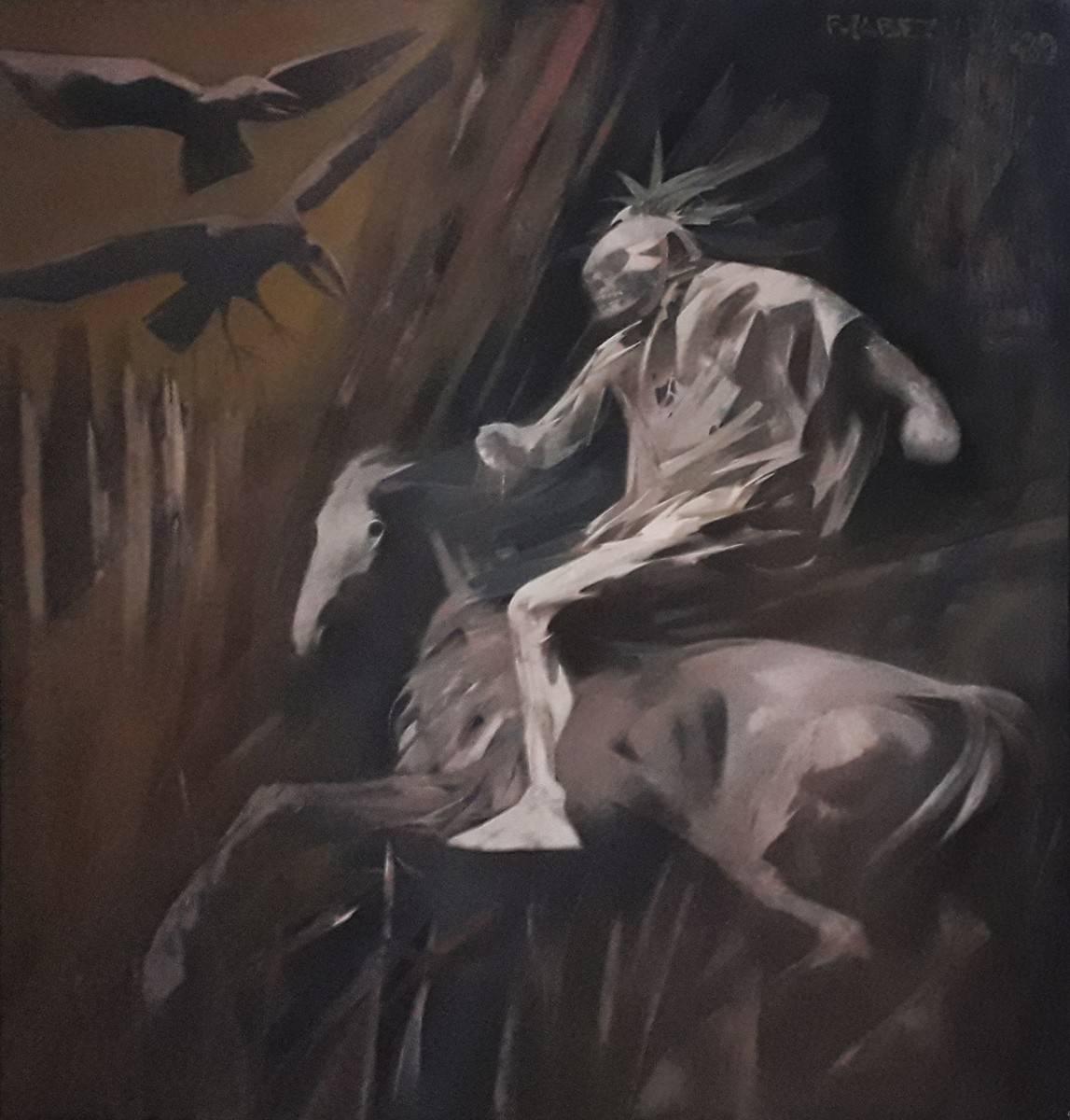 Obra ampliada: Pájaro y jinete - Fernando Cabezudo