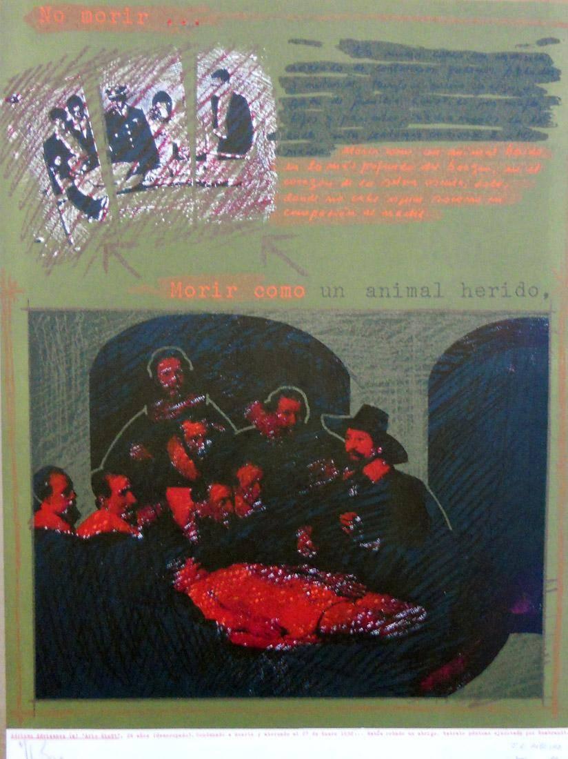 Obra ampliada: Morir como un animal herido  - Herman Braun Vega