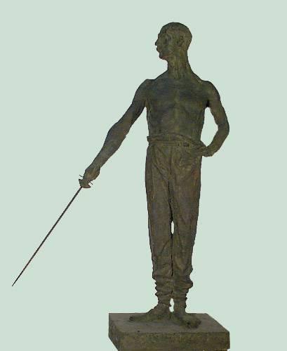 Obra ampliada: El esgrimista - Juan Manuel Ferrari