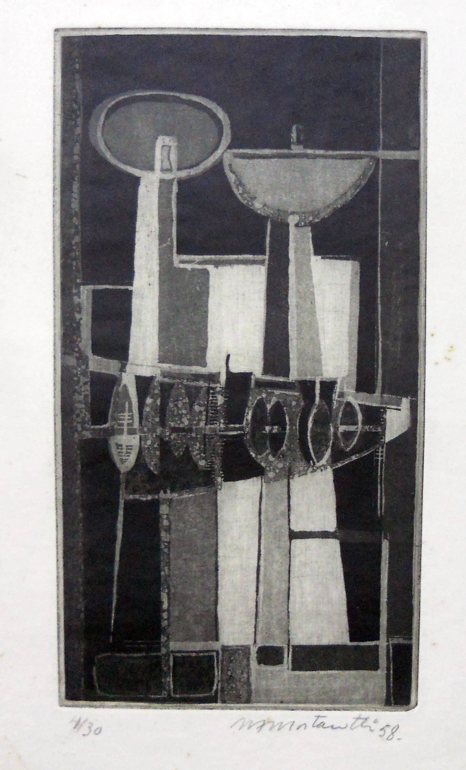 Obra ampliada: Composición 1958 - Margarita Mortarotti