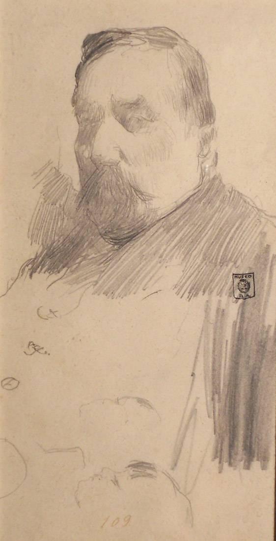 Obra ampliada: Retrato del padre - Carlos Federico Sáez