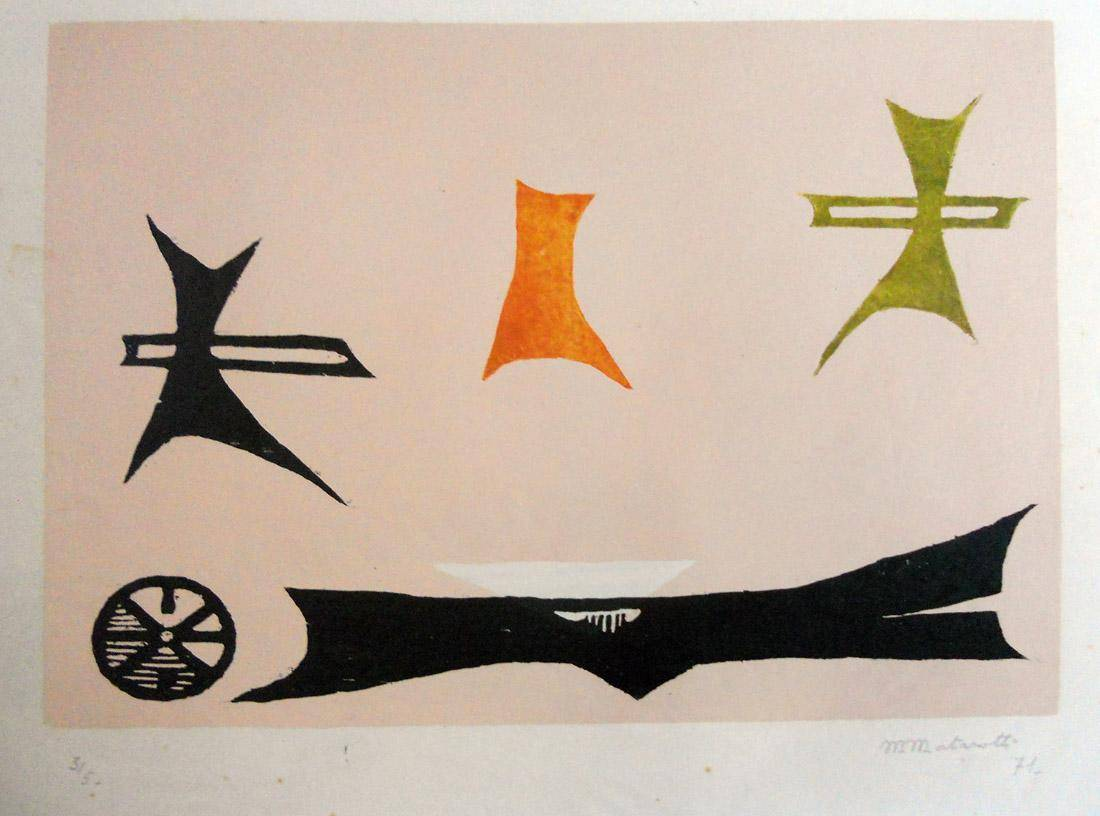 Obra ampliada: Lucha de formas I - Margarita Mortarotti