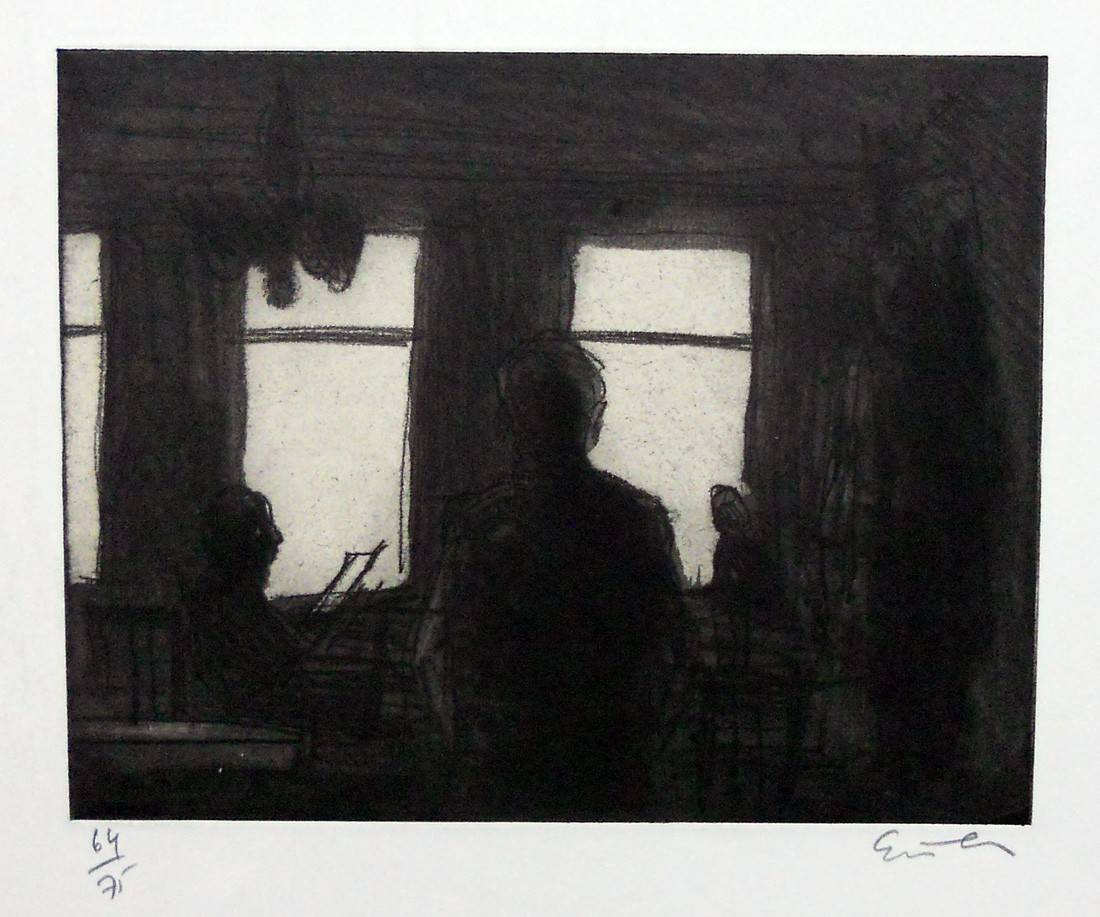 Obra ampliada: En el café - Georg Eisler