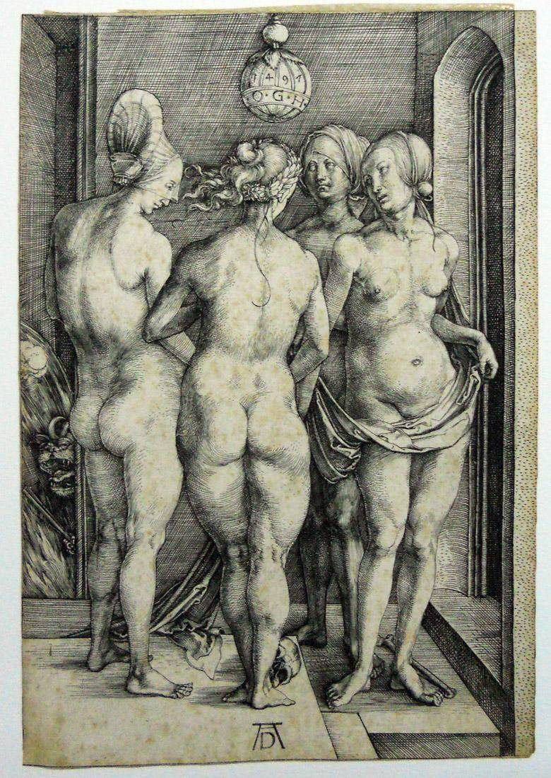 Obra ampliada: Cuatro mujeres desnudas - Albrecht Dürer