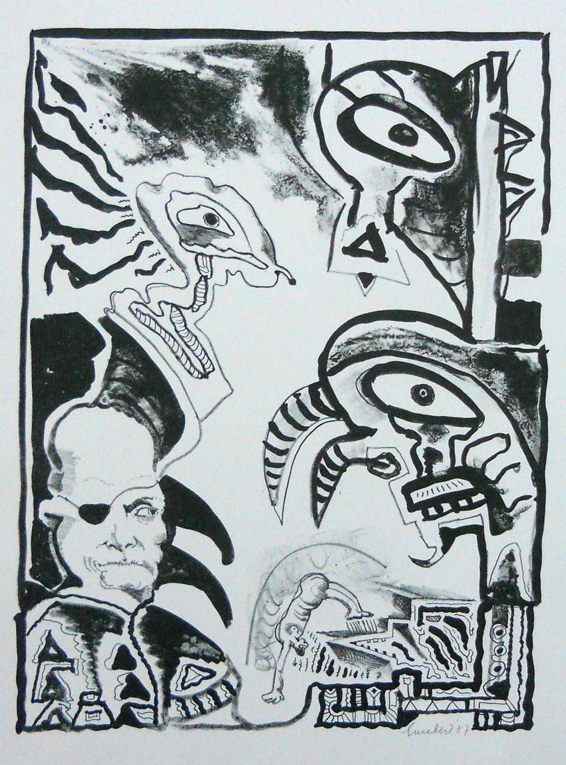 Obra ampliada: Serie de fantasía - Lucebert