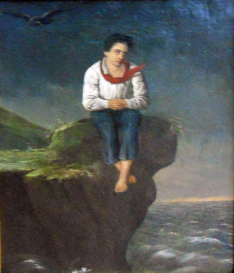 Obra ampliada: Niño náufrago - Juan Manuel Blanes