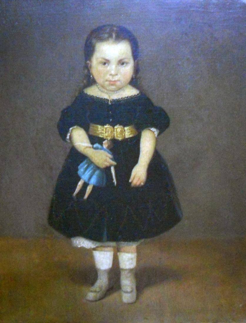 Obra ampliada: Retrato de la niña de Otero - Juan Manuel Blanes