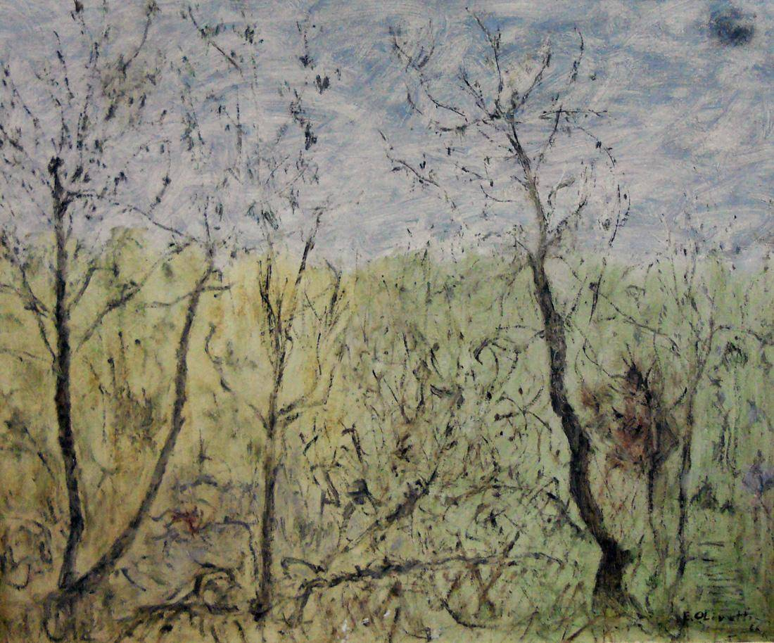 Obra ampliada: Árboles en primavera - Eva Olivetti
