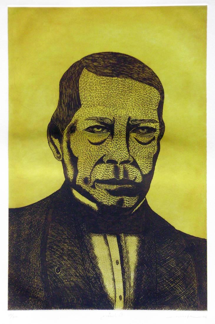 Obra ampliada: Busto de Juárez - Efraín Morales