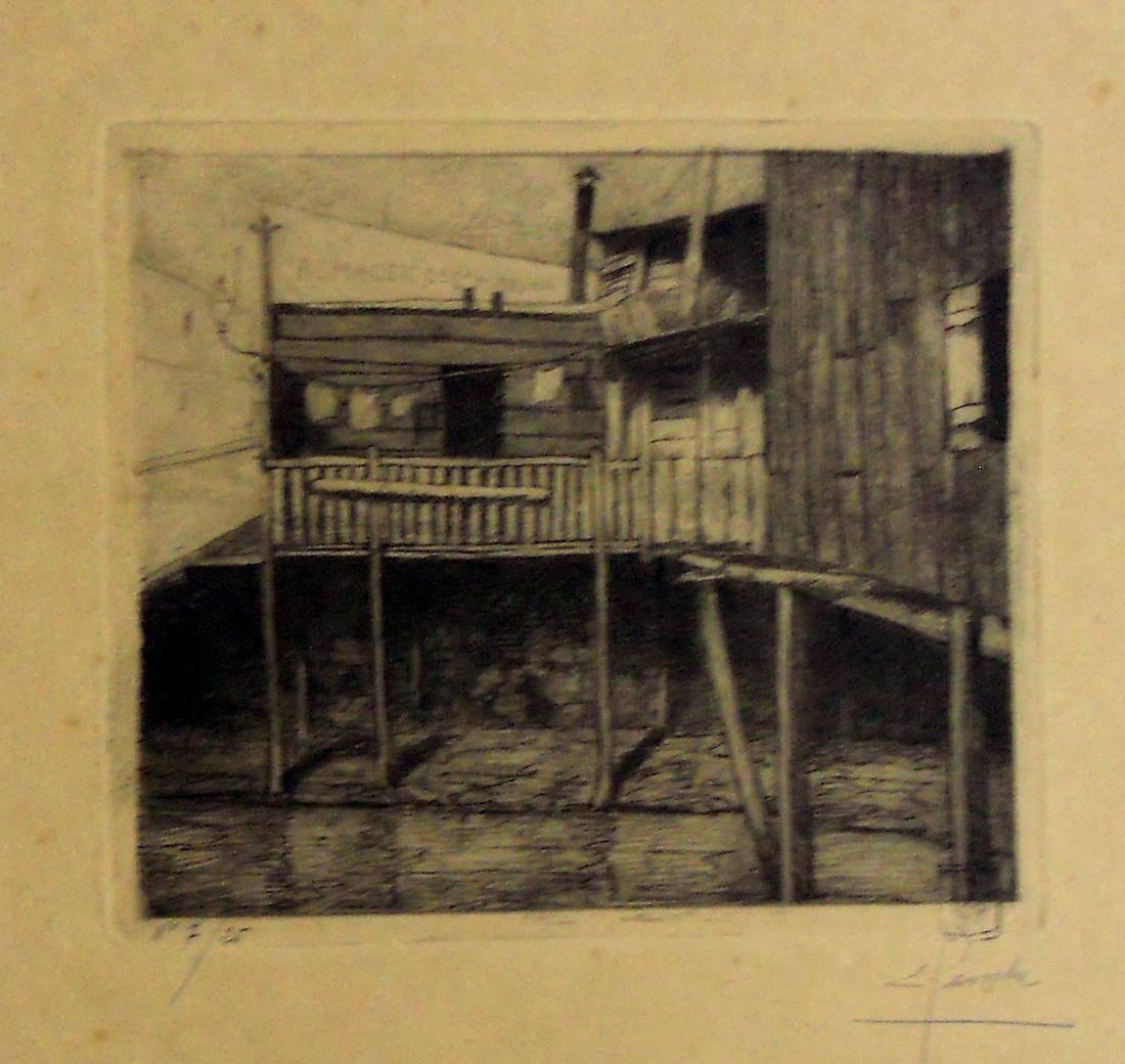 Obra ampliada: Barracas del antiguo puerto (pescadores) - Ernesto Laroche