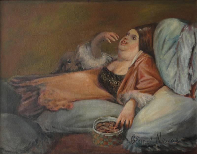 Obra ampliada: En la cama comiendo Bombones - Clarel Neme