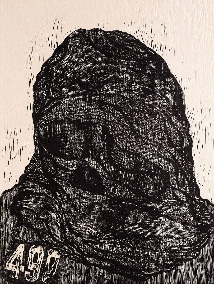 Obra ampliada: Los Desaparecidos VI Encapuchados 490 - Antonio Frasconi