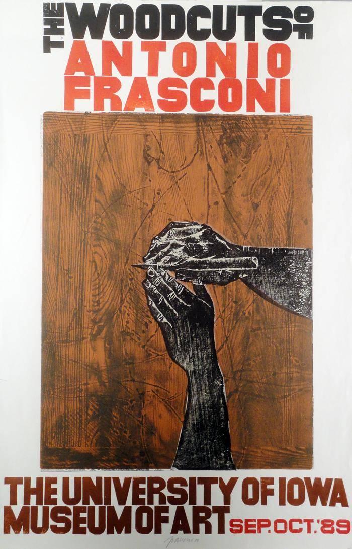 Obra ampliada: Poster University of IOWA - Antonio Frasconi