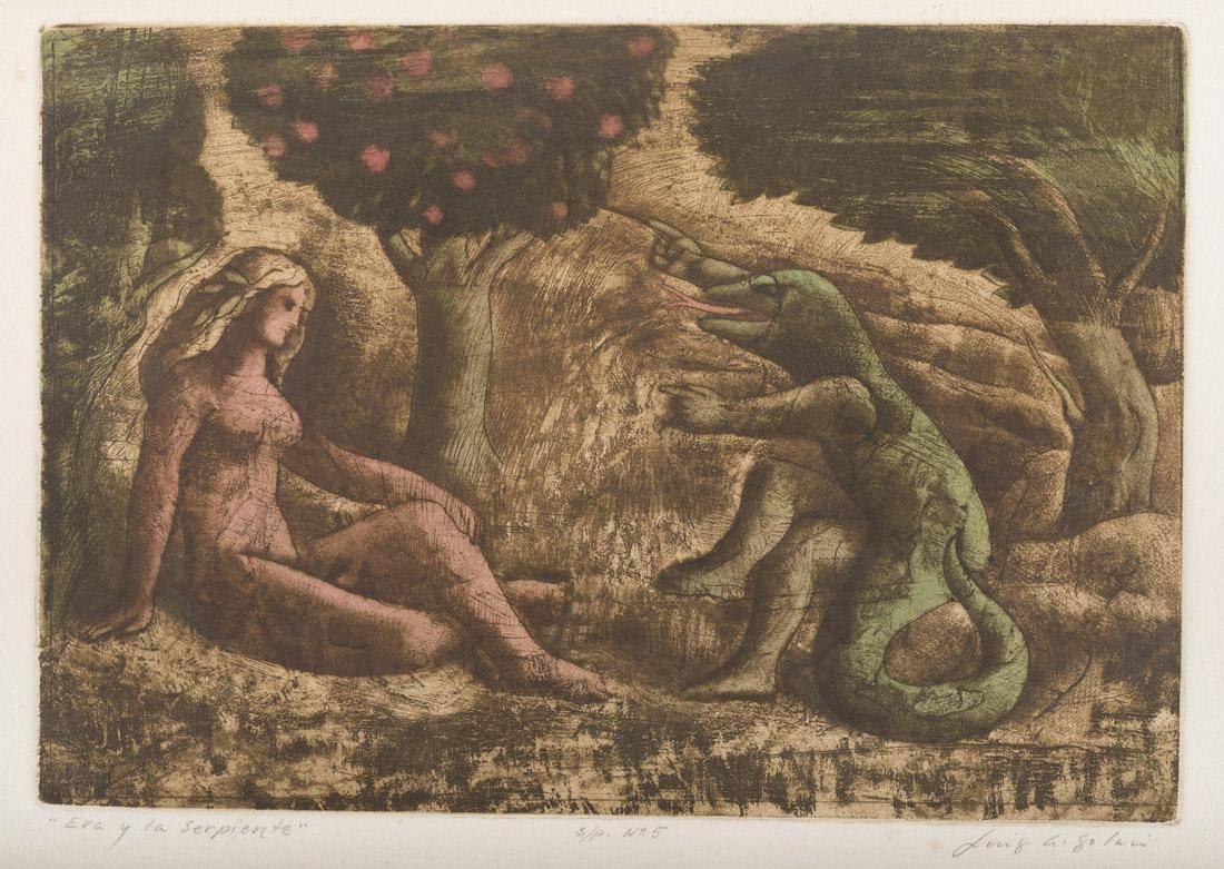 Obra ampliada: Eva y la Serpiente  - Luis A. Solari