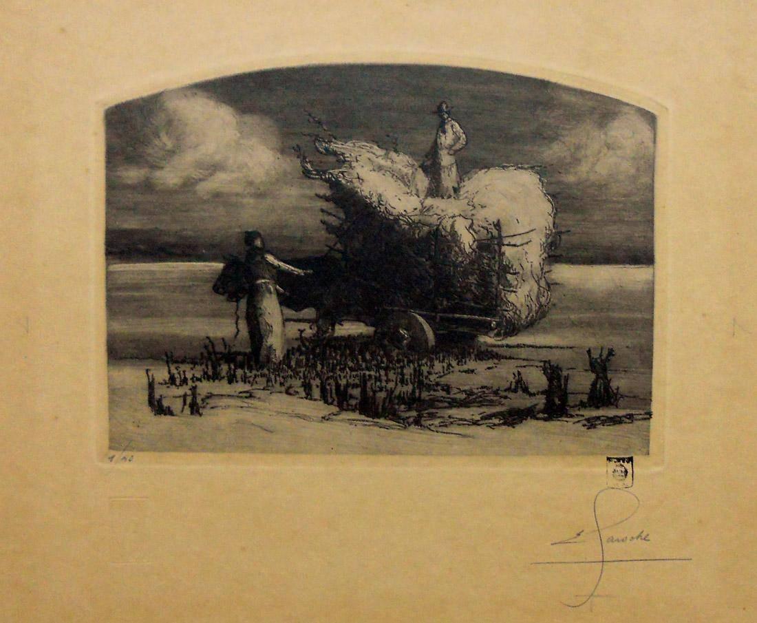 Obra ampliada: La recogida - Ernesto Laroche