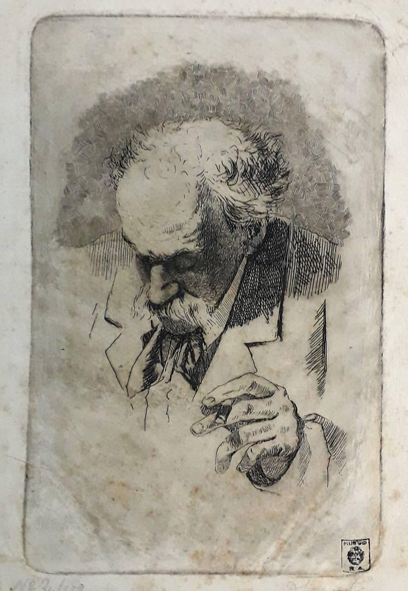 Obra ampliada: Retrato de Giovanni Fattori - Domingo Laporte
